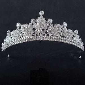 Victorian Leaf Crystal Rhinestone Crown